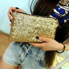 GOLD SEQUIN CLUTCH BAG HANDBAG WRIST STRAPS AVAILABLE