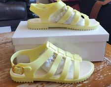 Womens Yellow Jelly Shoes Soft Sole Size 4 New In Box