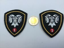 2  Military Black  Ram's Head Brigade  Patch Badge Insignia Canadian Army
