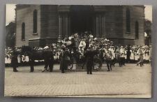 1910s Imperial Russian Tsar NICHOLAS II ROMANOV Visiting Church RIGA Real Photo
