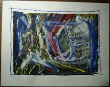 Dessin Composition Abstraite Abstraction CHRISTINE CANETTI 1985 Ruth Francken