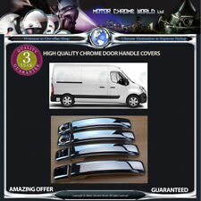 FITS RENAULT MASTER CHROME DOOR HANDLE COVERS QUALITY 3y GUARANTEE 2010-2019