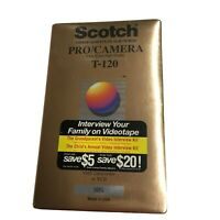 Vintage Scotch T-120 Pro Camera Extra-High Grade [VHS] For Camcorder / VCR Tape