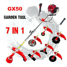 Gx50 brush cutter 7 in 1 lawn mower outdoor yard pruner hedge trimmer saw chain