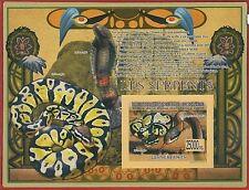 FRENCH GUINEA - ERROR, 2009 IMPERF SHEET: SNAKES, Python, Boa, Reptiles, Animals