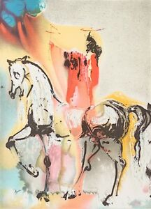 Salvador Dali - The Christian Knight (signed lithograph, 1983)
