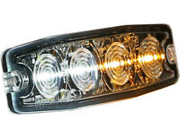 """Buyers Products 8892242 Ultra Thin 4.5"""" Amber/Clear LED Strobe Light"""