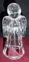 "New Angel Praying Made of Glass 5.5"" X 3"" EXCELLENT CONDITION"