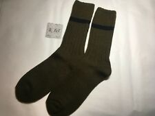 K.Bell Men's Pair Socks Moss Green Black Acrylic Merino Wool Blend Mens Sock New