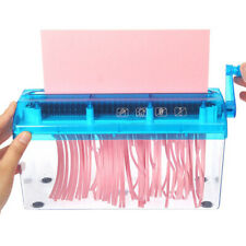 Manual Paper Shredder A6 Paper Cutting Tool Office Home School Stationery