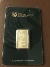 ''NO RESERVE'' PERTH MINT 10 GRAM .9999% GOLD BAR, SEALED W/ HARD ASSAY/CERT