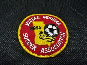 Middle Georgia Soccer Association MGSA - Vintage Round Embroidered Patch