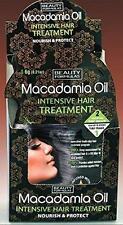 ** BEAUTY FORMULAS MACADAMIA OIL INTENSIVE HAIR TREATMENT 18G NEW ** NOURISH