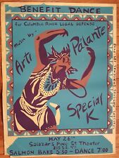 Special K, Pa'lante Silk Screened Poster Mid '80s Benefit Concert 22x17 Portland