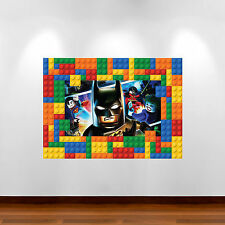 LEGO BATMAN FULL MULTI COLOUR 3D wall art stickers Children's Transfers Mural