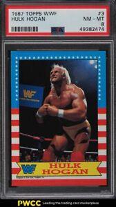 1987 Topps WWF Wrestling Hulk Hogan #3 PSA 8 NM-MT