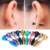 12x Tongue Nipple Bars Lip Ring Barbell Body Piercing Jewelry Gift Punk v-bSPUK