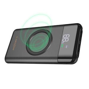Wireless Powerbank 10000mAh Externer Akku Tragbares Ladegerät USB C Power Bank