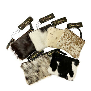 Raviani Coin bag in Hair On Cowhide Speckle Leather