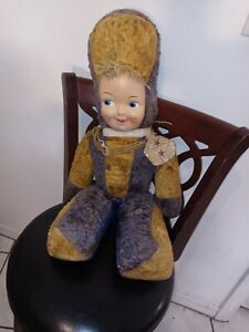 """Rushton Majorette Marching Band Soldier Christmas Plush Doll Large 27"""" Pre-Owned"""