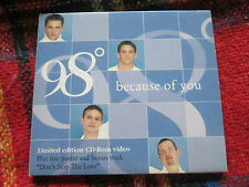 98° – Because Of You Limited Edition CD Rom VIDEO + poster Digipak
