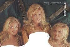 Playboy Centerfold December 1998 Triplets Nicole, Erica, Jaclyn Dahm  CF-ONLY