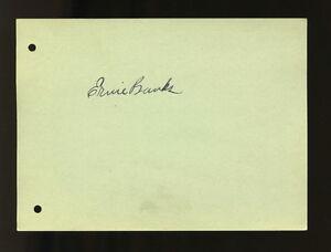 1953 Rookie ERNIE BANKS Autographed Album Page/Index Card Cubs