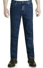 New Mens Wrangler Durable Stretch Denim Jeans Basic Regular Darkstone W30 L30