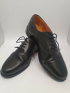 Men's Grenson Black Leather Shoes UK Size 9F