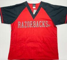 Ncaa College Team Scrubs-University of Arkansas Razorbacks Scrub Tops + Bottoms