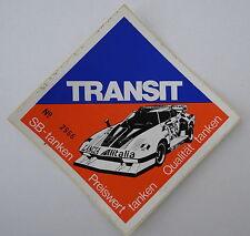 Aufkleber TRANSIT Tankstelle LANCIA STRATOS HF TURBO 70er  Sticker Autocollant