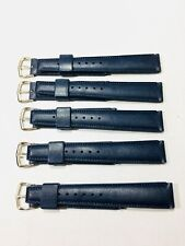 Vintage Lot-5-Divers Waterproof Rubber Watch Band Mens 19mm Blue Strap(BL-28