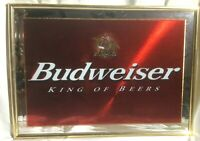 "BUDWEISER Beer Bar Mirror Sign  ""King of Beers"".   Very Nice, Great Colors!"