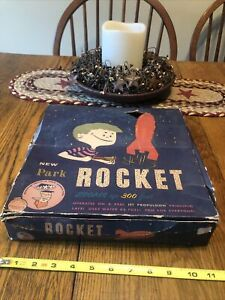 Vintage Parks Plastic Air And Water Fuel Jet Rocket Missile Childrens Game W Box