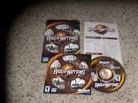 Rise of Nations (PC, 2003) Game with manual & key