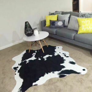 Cow Print Rugs Black and White Faux Cowhide Rugs Animal Printed Area Rug Carpet