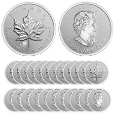 2016 Wolf Privy Silver Canadian Maple Leaf Reverse Proof Coin (Lot/Tube of 25)