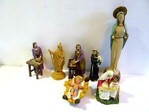 LOT OF NATIVITY FIGURES BABY JESUS MIXED LOT ROMAN INC. 1998 ITALY FONTANINI