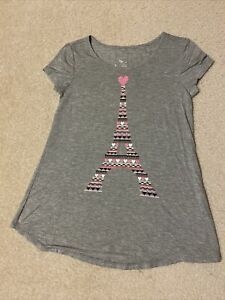 Girl's Justice Valentine's Eiffel Tower Shirt Size 10