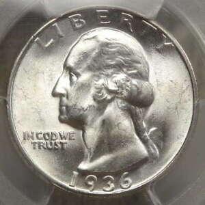 1936-D Washington Quarter, Choice Uncirculated, PCGS/CAC MS-64, Key Date