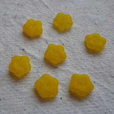 Cristal Checo ~ 50 Flor espaciador granos ~ Amarillo