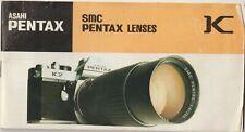 Vintage Asahi Pentax SMC Lenses Guide Camera Manual Instructions Booklet