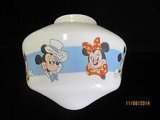 Vintage Disneyana Children's Glass Lamp Light Globe Mickey Mouse Minnie Mouse