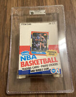 Authentic empty 1986 Fleer Basketball Wax Pack Box GAI 9 Michael Jordan Rookie!