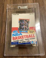 Authentic empty 1986 Fleer Basketball Wax Pack Box GAI 9 Michael Jordan Rookie!