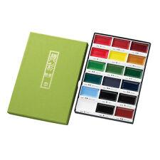 Kuretake Gansai Tambi 18 Color Japanese Traditional Solid Water Color paint
