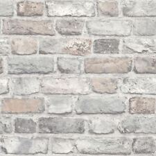 GRANDECO PASTEL VINTAGE OLD HOUSE BRICK WALL FEATURE DESIGNER WALLPAPER A28902