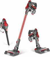GeeMo Cordless Vacuum Cleaner 21Kpa Handheld Battery Bagless Pet Hair Carpet Red