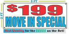 $199 MOVE IN SPECIAL Banner Sign 2x5 for Apartment or Rent House