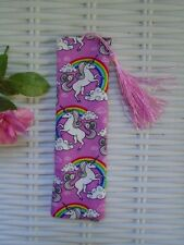 UNICORN & RAINBOW BOOKMARK FABRIC UNICORNS BOOKS MAGICAL CREATURE GIFT BOOKMARKS
